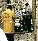 Ifølge en politikilde var den ene av de to som ble drept i bilbomben datteren til Yitzhak Levy, lederen for Det nasjonalreligiøse partiet (Foto: APTN).