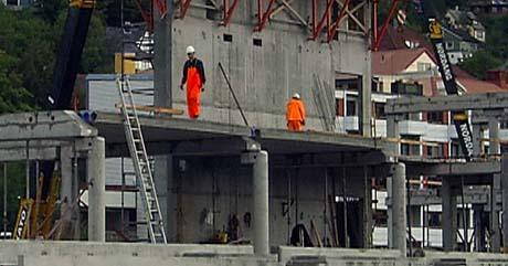 Deler av anlegget på Color Line Stadion var ikke sikret. (Foto: Bernt Baltzersen, NRK)