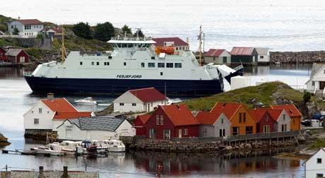 Politiet vurderte å evakuere alle innbygerne i øykommunen Fedje. Arkivfoto: Gorm Kallestad/Scanpix