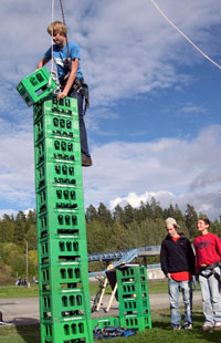 Jonas Lofthus prøver seg på en ny rekord. Foto: Jan Henrik Mo/ NRK