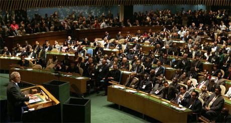 George W. Bush talte i FNs hovedforsamling i dag. (Foto: AP/Scanpix)