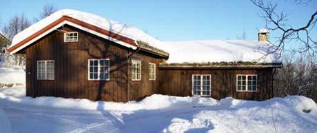 Byggmestere på Geilo har mer enn nok å gjøre med å bygge hytter. Foto: Terra Eiendomsmegling.