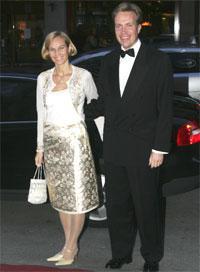 Nærings- og handelsminister Børge Brende og kona Torild Brende kommer til Orklas jubileumsmiddag på Grand Hotel torsdag kveld. (Foto: Scanpix)