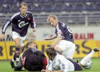 Østenstad og Nevland på jakt etter mål mot Stabæk. (Foto: Alf Ove Hansen / SCANPIX)