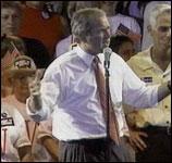 George W. Bush leder knapt (foto: EBU).