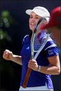 Martina Hingis har vært borte fra topptennis i tre måneder.