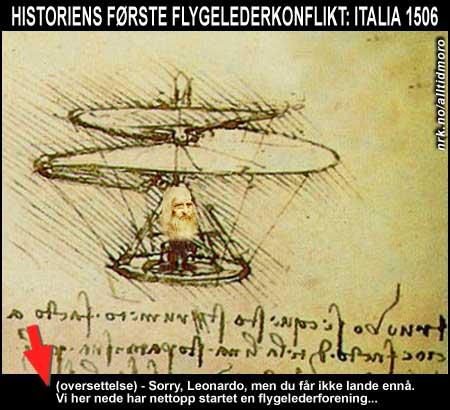 Historiens første flytur ble møtt med mottiltak nede på bakken. (Alltid Moro)