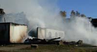 Driftsbygninga som brann på Midtre Olimb gård. (Alle foto: Kari-Anne Ribsskog)