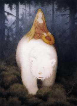 Fra eventyret Kvitebjørn kong Valemon. Illustrasjon: Th. Kittelsen.