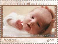 Ingrid Alexandra, en moderne prinsesse. Hun har til og med fått sitt eget frimerke. Foto: Posten Norge/SCANPIX
