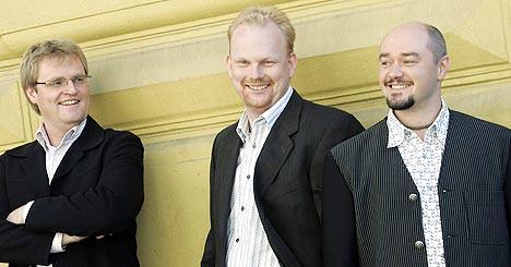 Flukt er (f.v.) Sturla Eide, Øivind Farmen og Håvard Sterten. Foto: Heiko Junge / SCANPIX.