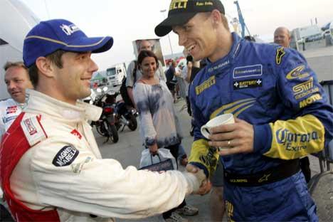 Petter Solberg drømmer om at Sèbastien Loeb skal få teknisk trøbbel i Italia.(Foto: Heiko Junge / SCANPIX )
