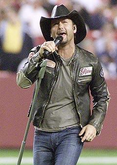 Hører man for mye på countryartister som <b>Tim McGraw</b> øker kanskje sjansen for selvmord, i følge en ny studie. Foto: REUTERS / Joe Giza.