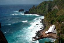 IDYLL: Mange av den idylliske øya Pitcairns menn er tiltalt for seksuelle overgrep. (Foto: AP/Scanpix)