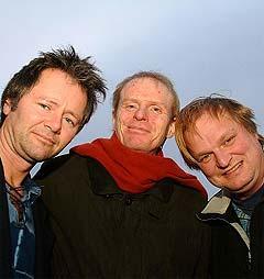 Gabriel Fliflet, Ole Hamre og Knut Reiersrud var noen av artistene som spilte under årets folkemusikkfestival i Førde. Foto: Rikskonsertene.