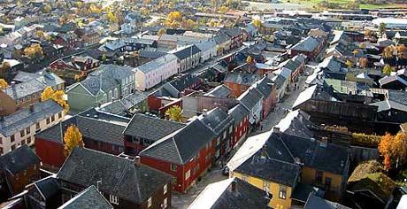 Røros - sett fra tårnet på Bergstaden Zir (Foto: Nils Åge Nonstad)
