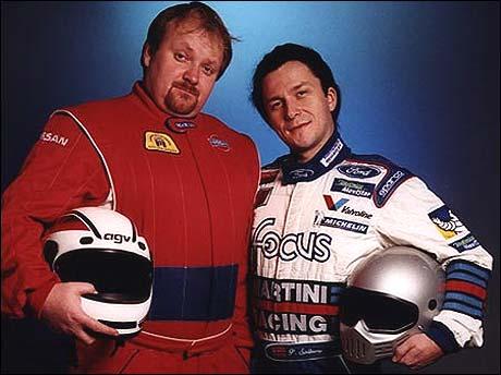 Slik så Nils og Ronny ut da de kjørte bilcross i Walkabout.