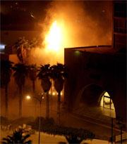 RAKETTANGREP: To russiske raketter ble avfyrt mot to hoteller i Bagdad der vestlige journalister og entrepenører bor. Foto: AP Photo/Anja Niedringhaus