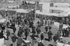 Dawson City på slutten av 1800-talet, ein raskt veksande by. Foto: NRK