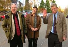 Ordfører Reidar Eriksen (her til venstre) møter motbør.