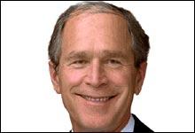 Lettere animert: Hvordan ser George W. Bush ut når han er full? Humorsidene på nett gir deg svaret.