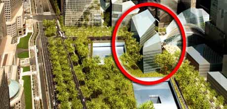 Her på ground zero-tomta skla museet ligge