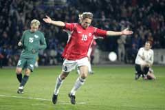 Innbytter Alexander Ødegaard jubler etter å ha scoret Norges tredje mål. (Foto: Cornelius Poppe / SCANPIX)