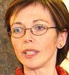 Samferdselsminister Torild Skogsholm (V)