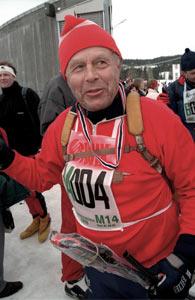 Fredrik Lütken, 87, og har gått birken 60 ganger! ( Foto: Foto: Terje Bendiksby/NTB pluss)