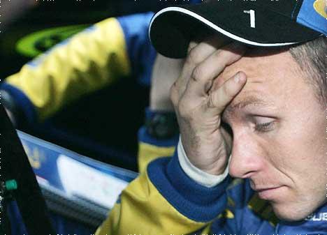 Petter Solberg innser at VM-tittelen er i ferd med å glippe (Foto: SCANPIX / Morten Holm)