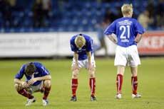 Vålerengaspillerne var skuffet etter uavgjort mot Sogndal. (Foto: Håkon Mosvold Larsen / SCANPIX)