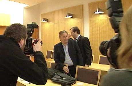 Trond Kristoffersen kom til retten (Foto NRK)