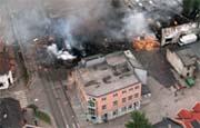 Bandidos i Drammen i brann i 1997.