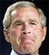 FLESKER TIL: Bush holder ikke tilbake når han gjennomfører valgkampen. Presidenten har brukt 1,8 milliarder kroner på reklame.