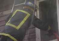 Da brannvesenet kom til stedet var hele andre etasje overtent.(Foto:Bjørn Anders Sørli)