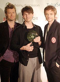 a-ha fikk en nordisk ærespris under Nordic Music Awards torsdag. Foto: Jarl Fr. Erichsen / SCANPIX.
