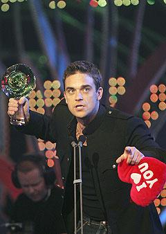 Skal scene-sjarmøren Robbie Williams, her under Nordic Music Awards, komme til Ålesund? Foto: Ørn E. Borgen, Scanpix.