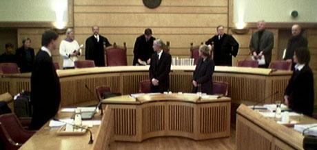 Frostating lagmannsrett behandler tirsdag forvaringsdommen til Terje Wiik. (Foto: NRK)
