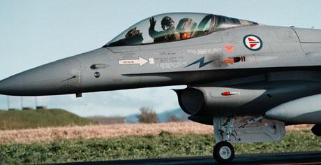 Seks jagerfly skal delta når styrken sendes ut for å delta i internasjonale operasjoner. (Foto: Gorm Kallestad/Scanpix)