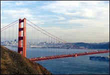 Moderne underverk: Golden Gate Bridge utenfor San Fransisco (Foto: AP/Eric Risberg)