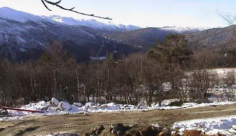 Her kan det komme opptil 300 hytter de neste årene. Foto: NRK.