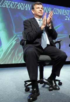 Michael Badnarik på det kongressen til Libertarian Party. (Foto: AP/Scanpix)