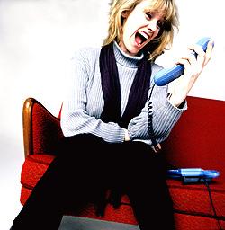 Sinna, glad, lei, blid; slipp følelsene løs over telefonen. Ved bruk av IP-telefoni blir det gratis også. Foto: Scanpix
