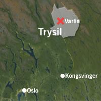 Varlia nordøst i Trysilfjellet. Grafikk: NRK