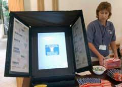 De nye stemmemaskinene i Florida brøt sammen da de ble testet. (Foto: AP/Scanpix)