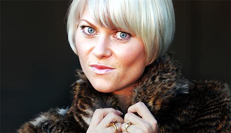 Bertine Zetlitz, veldesignet som alltid. Foto: Poppe/Scanpix