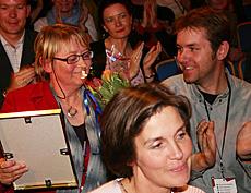 Kari Sørbø fikk prisen sammen med produsent Henning Olstad. (Foto: Jon-Annar Fordal)