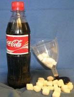 En halvliter brus tilsvarer 25 sukkerbiter