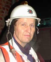 -Vi fikk raskt kontroll over brannen og hindret ytterligere spredning, sier utrykningsleder Aakerman. Foto: Rainer Prang, NRK.