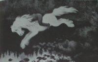 Nøkken, tegning av Theodor Kittelsen